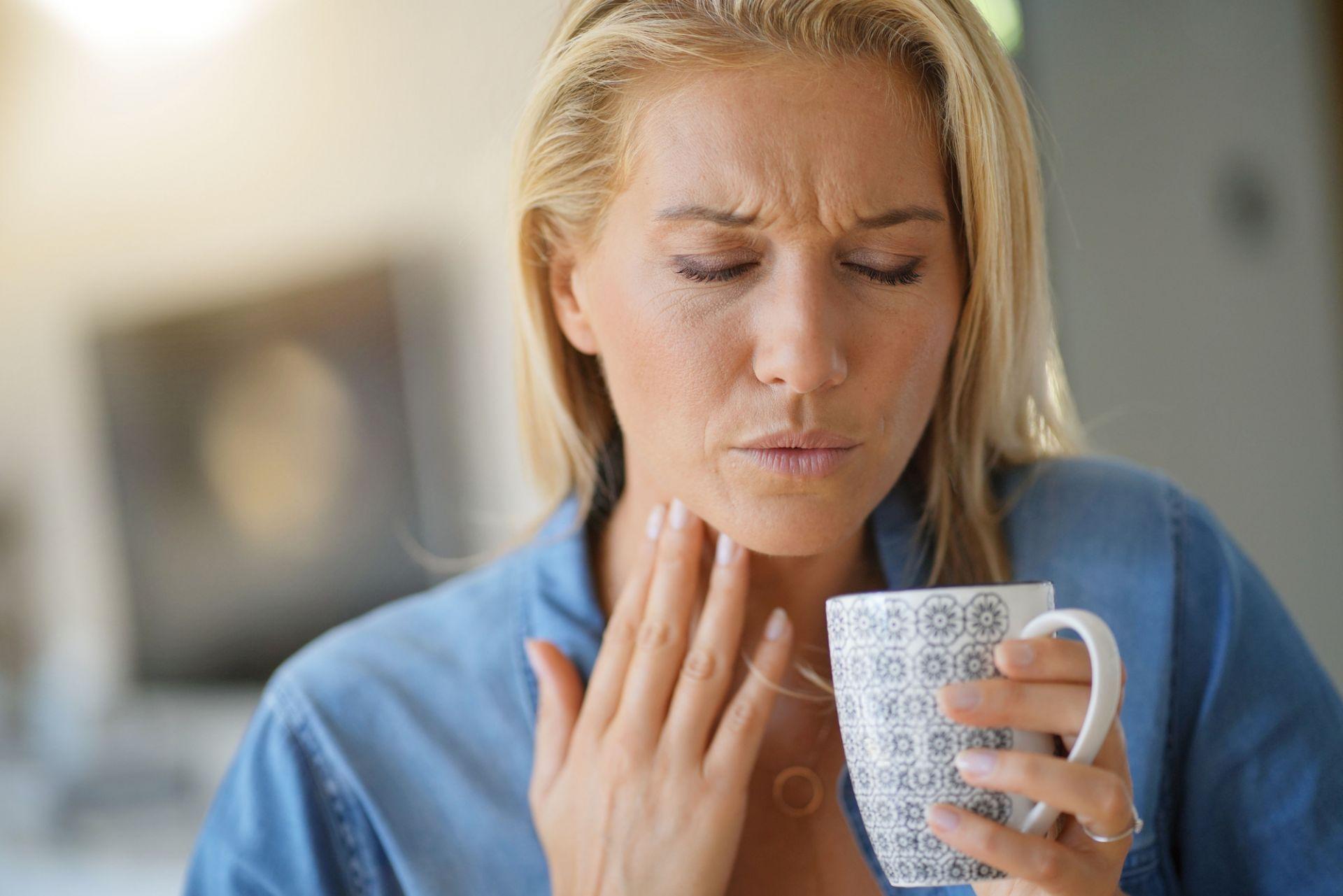 zapalenie gardła ból gardła